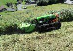 Débroussaillage Broyage avec robot Broyeur sur chenilles - Location débroussailleuse de pente sur chenilles