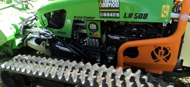 Broyage Débroussaillage avec Robot Broyeur sur chenilles Sallanches Passy Cordon Combloux