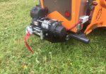 Montage d'un Treuil sur débroussailleuse de pente sur chenilles - Treuil à câble ave Radio-Commande sur débroussailleuse de pente sur chenilles