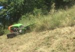 Débroussaillage / Broyage entretien des Alpages - Entretien des Alpages avec Tondeuse débroussailleuse sur chenilles sur le secteur de Bonneville en Haute-Savoie