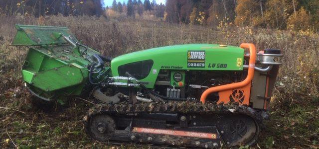 Entretien des pistes de ski avec Robot Broyeur sur le Secteur du Pays du Mont Blanc